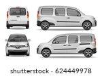white realistic passenger car...   Shutterstock .eps vector #624449978