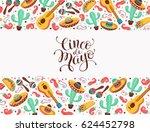 cinco de mayo poster  in... | Shutterstock .eps vector #624452798