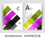 geometrical brochure a4...   Shutterstock .eps vector #624462218