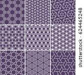 arabic seamless patterns set... | Shutterstock .eps vector #624465248