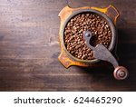 Roasted Coffee Beans In Old...
