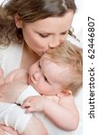 beautiful young mum and her... | Shutterstock . vector #62446807