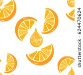 orange slided pattern | Shutterstock .eps vector #624470624