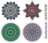 Set Of Color Floral Mandalas ...