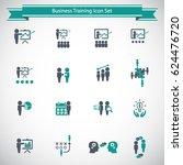 business training icon set | Shutterstock .eps vector #624476720