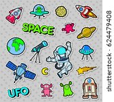 space  ufo  robots and aliens... | Shutterstock .eps vector #624479408