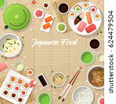 japanese cuisine traditional... | Shutterstock .eps vector #624479504