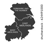 yorkshire and the humber   east ... | Shutterstock .eps vector #624491000