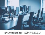 modern office space interior in ... | Shutterstock . vector #624492110