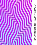 psychedelic purple waves. | Shutterstock .eps vector #624493910