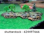 Model toy tank diorama