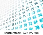 hexadecimal code running up a... | Shutterstock . vector #624497708