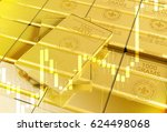 fine gold bars 3d illustration... | Shutterstock . vector #624498068