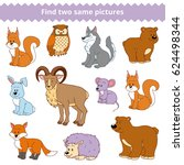 find two identical pictures ... | Shutterstock .eps vector #624498344