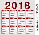 simple 2018 year vector... | Shutterstock .eps vector #624501668