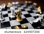 Chess Board Game Concept Of...