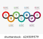 infographic timeline template... | Shutterstock .eps vector #624509579