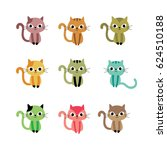 cute kitten vector collection | Shutterstock .eps vector #624510188