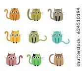 cute kitten vector collection | Shutterstock .eps vector #624510194
