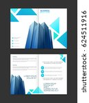 business brochure template with ... | Shutterstock .eps vector #624511916