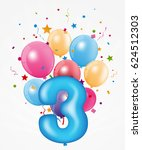 happy birthday balloon with... | Shutterstock .eps vector #624512303
