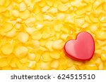 Red Heart On A Pile Of Yellow...