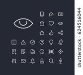 eye icon in set on the black... | Shutterstock .eps vector #624516044