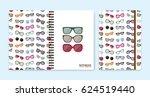 cover design for notebooks or... | Shutterstock .eps vector #624519440
