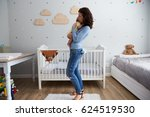 mother holding newborn baby son ... | Shutterstock . vector #624519530