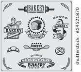 set of bakery labels  badges ... | Shutterstock .eps vector #624521870