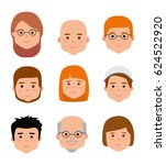 avatar icons. people... | Shutterstock .eps vector #624522920