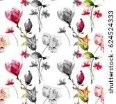 seamless pattern with original... | Shutterstock . vector #624524333