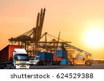 industrial logistics and... | Shutterstock . vector #624529388