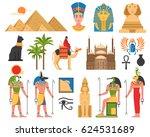 Egypt Set Of Ancient Egyptian...