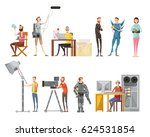set of making movie including... | Shutterstock .eps vector #624531854