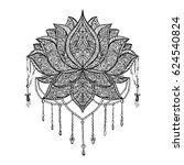 ornamental lotus flower. hand...   Shutterstock .eps vector #624540824