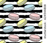 macaroons colorful seamless... | Shutterstock .eps vector #624544808