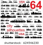 detailed silhouettes of usa... | Shutterstock . vector #624546230