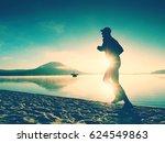 silhouette of sport active man... | Shutterstock . vector #624549863
