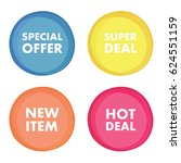 super deal  special offer  new... | Shutterstock .eps vector #624551159