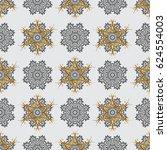 gray background with golden... | Shutterstock .eps vector #624554003