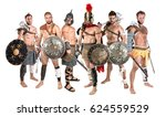 group of warriors or gladiators ... | Shutterstock . vector #624559529