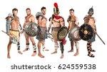 group of warriors or gladiators ... | Shutterstock . vector #624559538