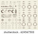 circle and square wicker... | Shutterstock .eps vector #624567503