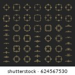 circle and square wicker... | Shutterstock .eps vector #624567530