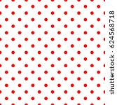 Tile Pattern With Red Polka...