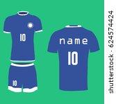 football uniform  t shirt ...   Shutterstock .eps vector #624574424