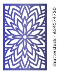 vector laser cut panel. pattern ...   Shutterstock .eps vector #624574730