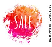 color sale poster | Shutterstock . vector #624575918