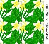 vector indian floral plumeria... | Shutterstock .eps vector #624578480